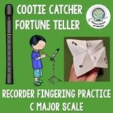 Recorder C Major Scale Cootie Catcher Fortune Teller