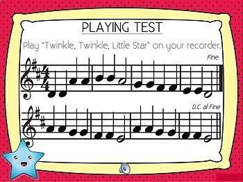 Twinkle, Twinkle Little Star Recorder Music
