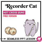 Hot Cross Buns Recorder PowerPoint Lesson - FREE Version