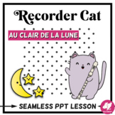 Au Clair de la Lune Recorder Music PowerPoint