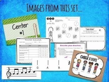 Recorder Centers Set {BAG}