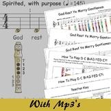 Recorder Christmas Sheet Music - God Rest Ye Merry Gentlemen F
