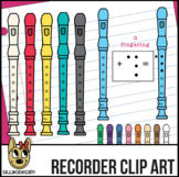 Recorder Clip Art with Fingerings