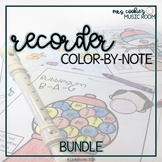 Recorder Color-By-Note Bundle