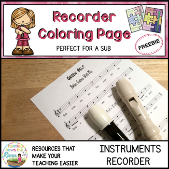 Recorder Coloring Page