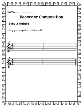 Recorder Composition-3 Step Process GAB
