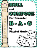 Recorder Composition Activity - Dice Game