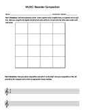 Recorder Composition Worksheet - uses only notes A and B