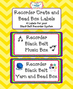 Recorder Crate and Bead Box labels