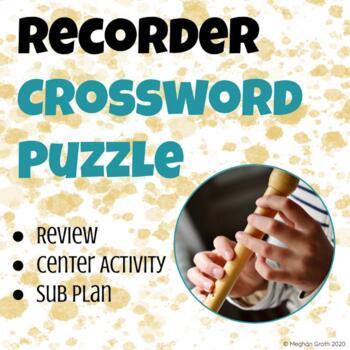 Recorder Crossword Puzzle