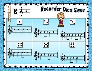 Recorder Dice Game - BAG - SAMPLE