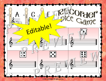Recorder Dice Game Level 2: FED