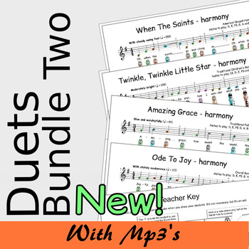 Recorder Duet Harmonies - Duets Bundle Two - Save 15%
