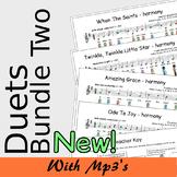 Recorder Duet Harmonies - Duets Bundle Two - Save 15%