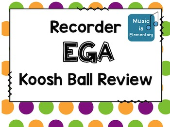 Recorder EGA Koosh Ball Review SMART Software Edition