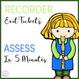Recorder Exit Tickets