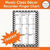 Music Class Decor - Recorder Finger Chart