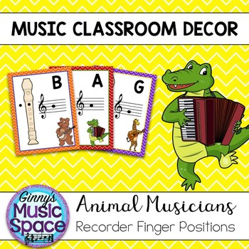 Recorder Finger Positions Animal Musicians Theme