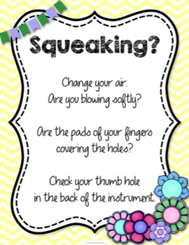 Recorder Fingering Anchor Charts {Garden of Music}