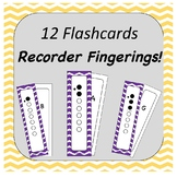 Recorder Flash Cards