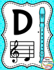 Recorder Fingering Chart Posters v2 COLOR - Music Decor Rainbow Brights