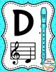 Recorder Fingering Chart Posters v2 COLOR - Music Decor Ra