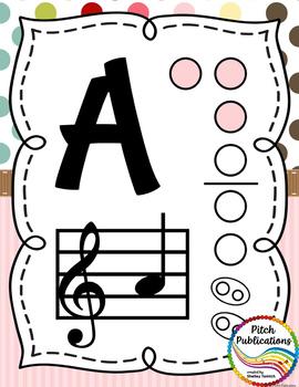 Recorder Fingering Chart Posters v3 HOLES - Music Decor SWEET SHOPPE
