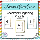 Recorder Fingering Charts: Chevron