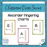 Recorder Fingering Charts: Polka Dots
