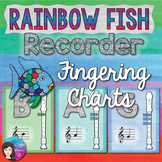 Recorder Fingering Charts - Rainbow Fish Theme PRINTABLE