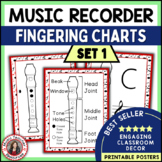 Music Class Decor: Music Posters - Recorder Fingering Charts: Set 1