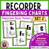Music Class Decor: Recorder Fingering Posters: Set 2