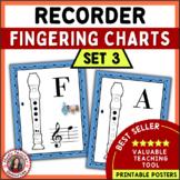 Music Class Decor: Recorder Fingering Posters: Set 3