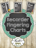 Recorder Fingering Charts-Shabby Chic Style