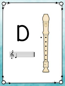 Recorder Fingering Charts: Watercolor