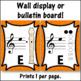Recorder Fingering Charts for Alto  Recorder Music Room Décor (orange)