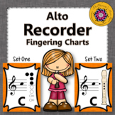 Recorder Fingering Charts for Alto  Recorder Music Room Décor (orange)