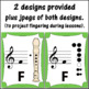 Recorder Fingering Charts for Soprano Recorder (boomwhacker colors) Music Décor