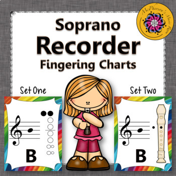 Recorder Fingering Charts for Soprano Recorder (rainbow)