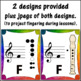 Recorder Fingering Charts for Soprano Recorder (rainbow subtle)