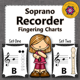 Recorder Fingering Charts for Soprano Recorder Music Room Décor (black)