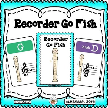Recorder (Fingering) Go Fish Game