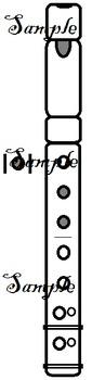 Recorder Fingering Graphics Set 2 - Chromatic C to D'