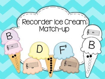 Recorder Fingering Ice Cream Match-Up