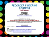 Recorder Fingering Posters (Chromatic add-on)