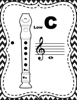 Recorder Fingering Posters (Ink-Friendly)