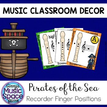 Recorder Fingering Posters {Pirate Themed}