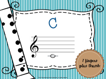 Recorder Fingerings & Flash Cards