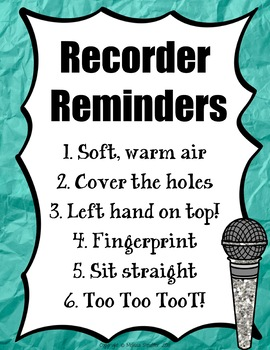 Recorder Fingerings & Posters {Vintage Record Store} Rainbow Glitter