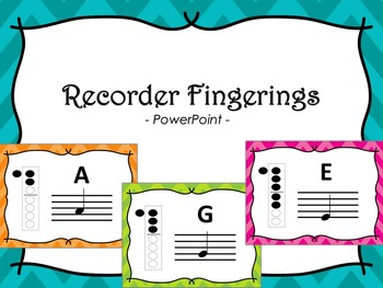 Recorder Fingerings PowerPoint - Chevron